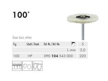 100 HP 220 polijstborstel (goat hair, white) img