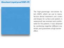 Absorbent / liquid proof drape 75 x 90 cm with adhesive U-shaped cut 11 x 9 cm img