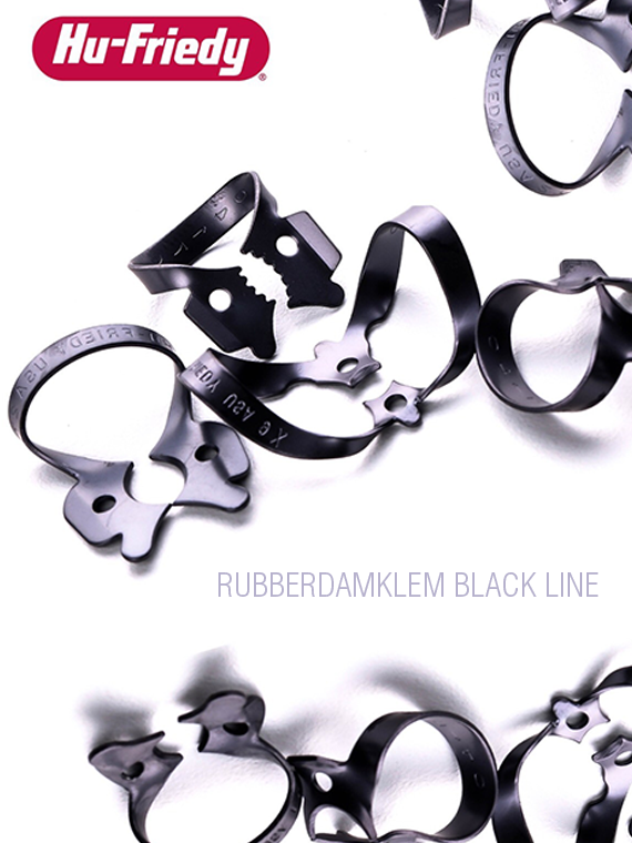 Hu-Friedy Black Line Rubberdamklemmen img