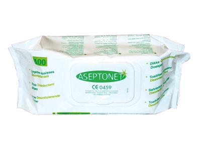 Aseptonet Pop-Up desinfectiedoekjes 1x100 ASEP0002 A09344 img