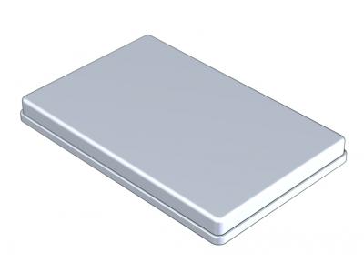 Nichrominox aluminium deksel 28x18cm grijs 181451 A09804 img