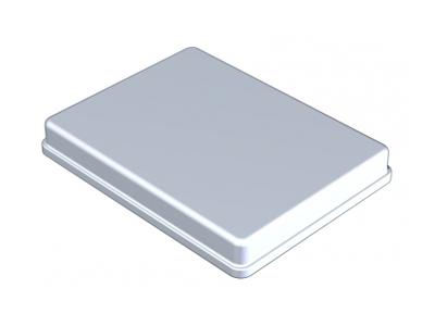 Nichrominox aluminium deksel 18x14cm grijs 181461 A10120 img