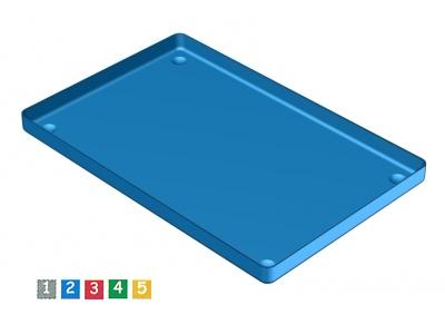 Nichrominox aluminium schaal 28x18 verguld 181450-5 A10515 img
