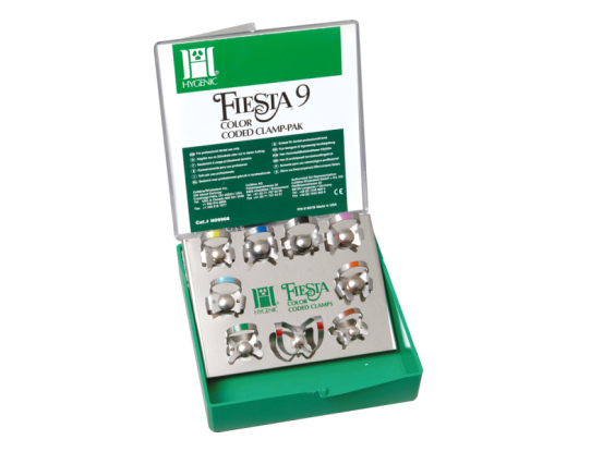 Hygenic Dental Dam Fiesta winged clamp colorset H09966 A26134 img