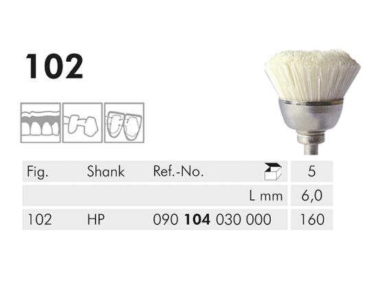 ME HP 102-160 polijstborstel wit 1x5 90104030000160 A31419 img