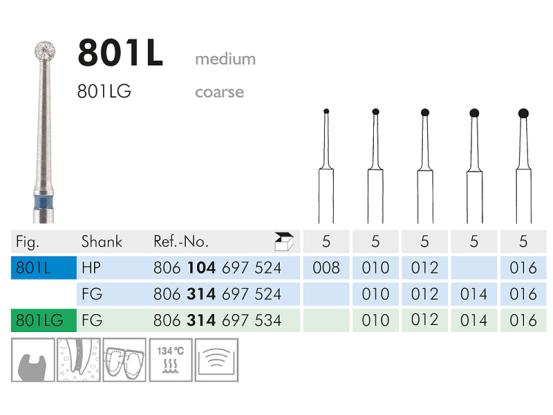 ME FG 801L-010 diamantinstrument 1x5 806314697524010 A32463 img
