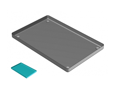 Nichrominox aluminium schaal 28x18cm azur 181450-6 A34383 img