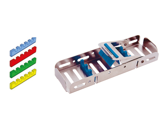 Nichrominox Easy Tray 18x5 - 1/6 DIN blauw 183703-2 709 img