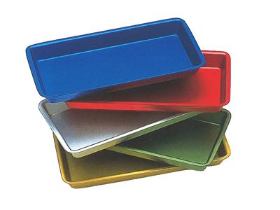 Nichrominox trays alum. 20x10x2 grey 181470-1 30 img