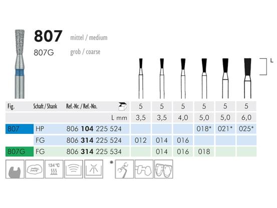 ME HP 807-021 diamantinstrument 1x5 A42989 img
