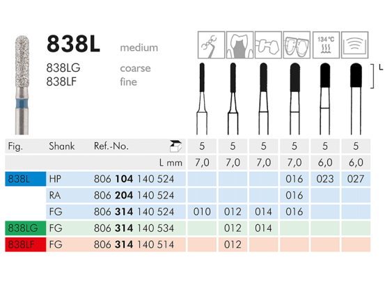 ME HP 838L-027 diamantinstrument 1x5 A02912 img