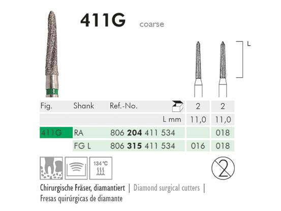 ME FGL 411G-016 chirurgische frees 1x2 1521 img