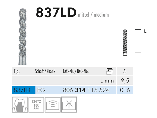ME FG 871-014 diamantinstrument 1x5 A04887 img