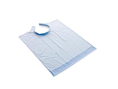 Roeko patiëntenschort blauw met buidel 70x60cm 1x1 A11048 img