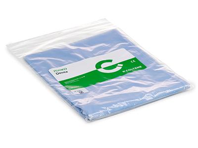 Roeko tablier patient bleu avec poche 1x1 A11048 img