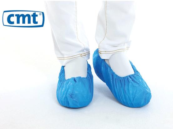 CMT Schoenovertrekken PE 41x15cm blauw 1x100 A43759 img