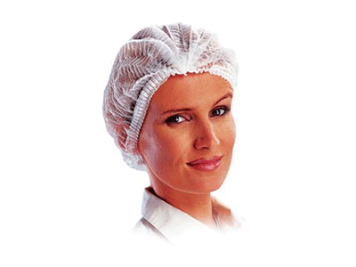 Hy@pro Muts/haarnetje non-woven wit + clip 1x100 A43768 img