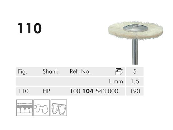 ME HP 110-190 polijstborstel katoen 1x5 A29199 img