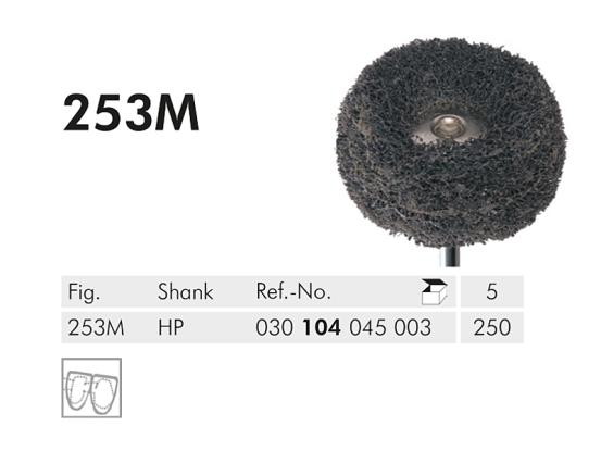 ME HP 253M-250 grijze polierborstel Lisko med.1x5 A34420 img
