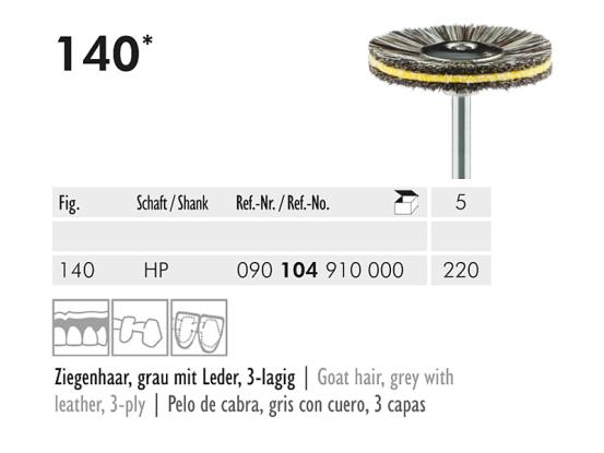 ME HP 140-220 polijstborstel geitenhaar grijs 1x5 A45271 img