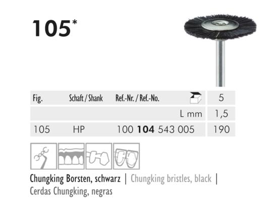 ME HP 105-190 polijstborstel Chungking zwart 1x5 A45272 img