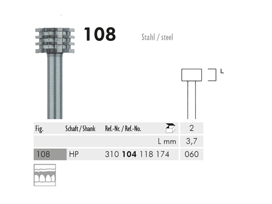 ME HP 108-060 staalfrees 1x2 A05715 img