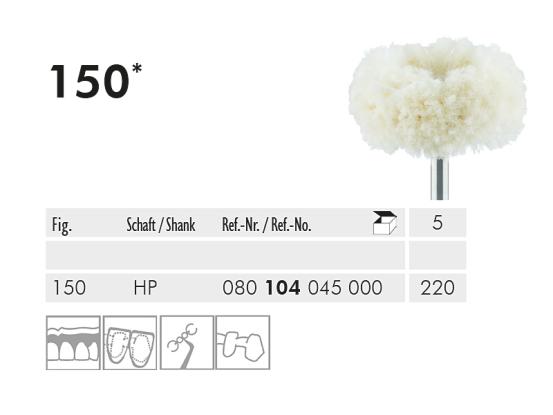 ME HP 150-220 polijstborstel katoen wit 1x5 A20043 img