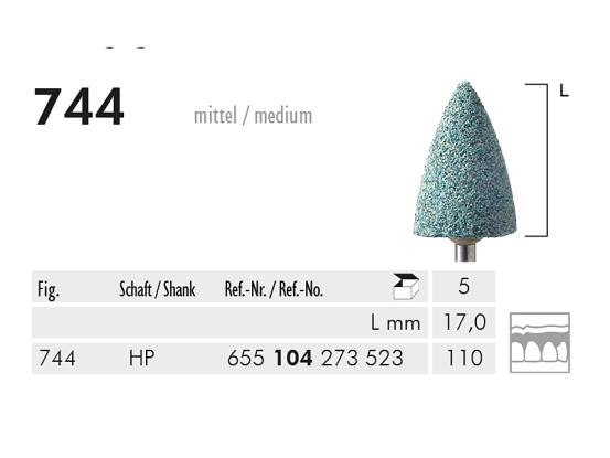 ME HP 744 groen mid. afwerksteen 1x5 A20254 img