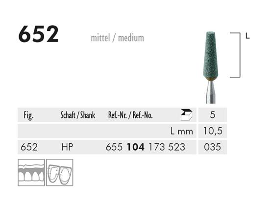 ME HP 652 slijppunt gemont.groen 1x5 A20270 img