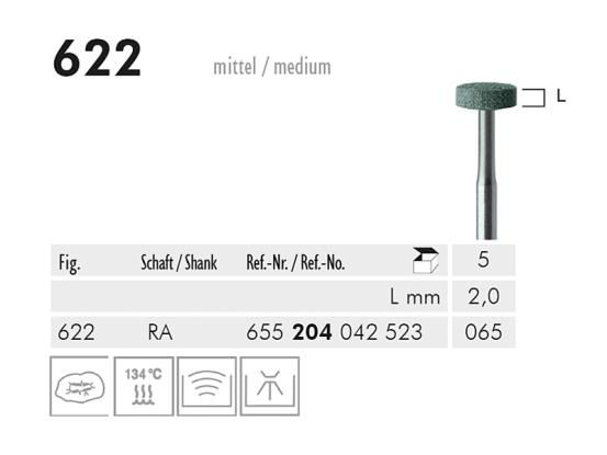 ME RA 622 slijppunt gemont.groen 1x5 A20395 img