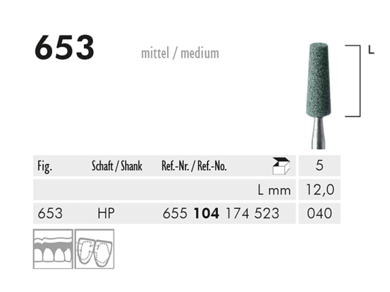 ME HP 653 slijppunt gemont.groen 1x5 A26618 img
