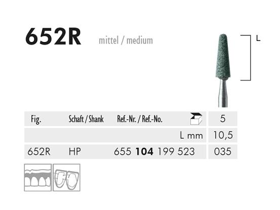 ME HP 652R slijppunt gemont.groen 1x5 A27476 img
