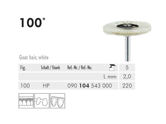ME HP 100-220 polijstborstel geitenhaar wit 1x5 A29200 img
