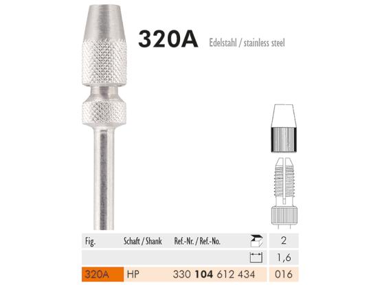 ME HP 320A-016 adapter voor FG-boren 1,6mm 1x2 A19802 img