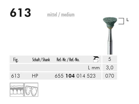 ME HP 613 slijppunt gemont.groen 1x5 A31407 img