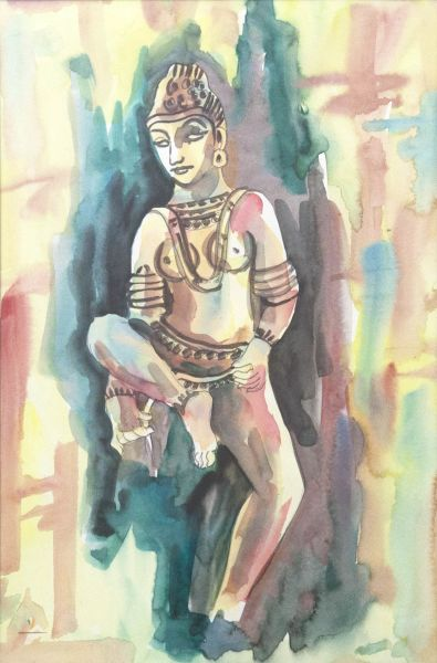 The Goddess Delighted Print Fine Art India