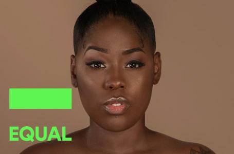 Soraia Ramos como capa da Playlist do EQUAL Portugal do Spotify do mês de Outubro