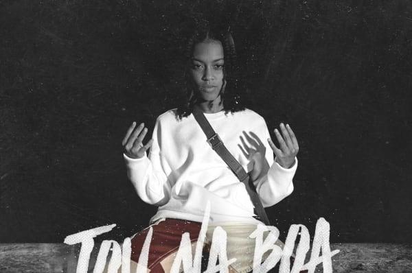 """capa do single """"Tou Na Boa"""" de Cintía"""