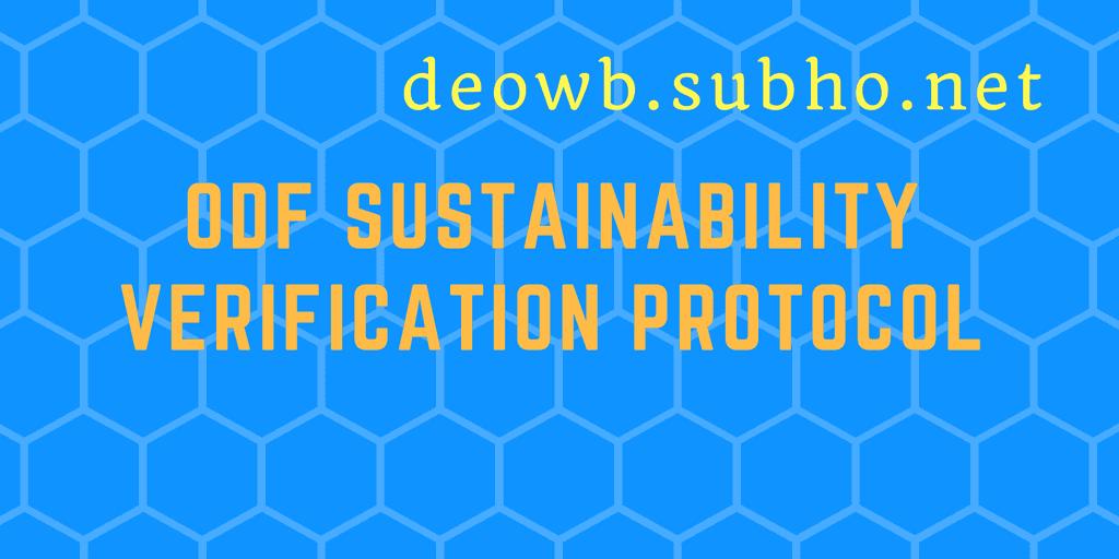 ODF sustainability verification protocol