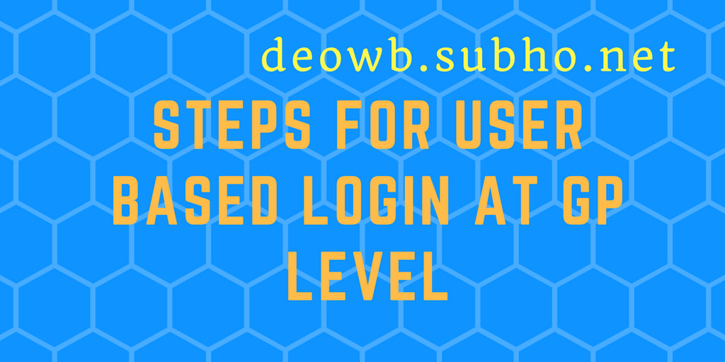 USER BASED LOGIN AT GP LEVEL