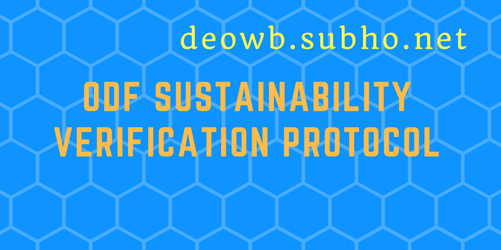 ODF sustainability verification protocol