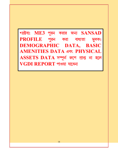WBIMS USER MANUAL - GRAM SANSAD PROFILE CREATION 15