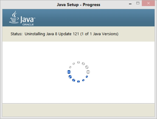 Uninstalling outdated java version