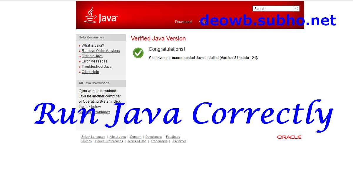 Run Java Correctly