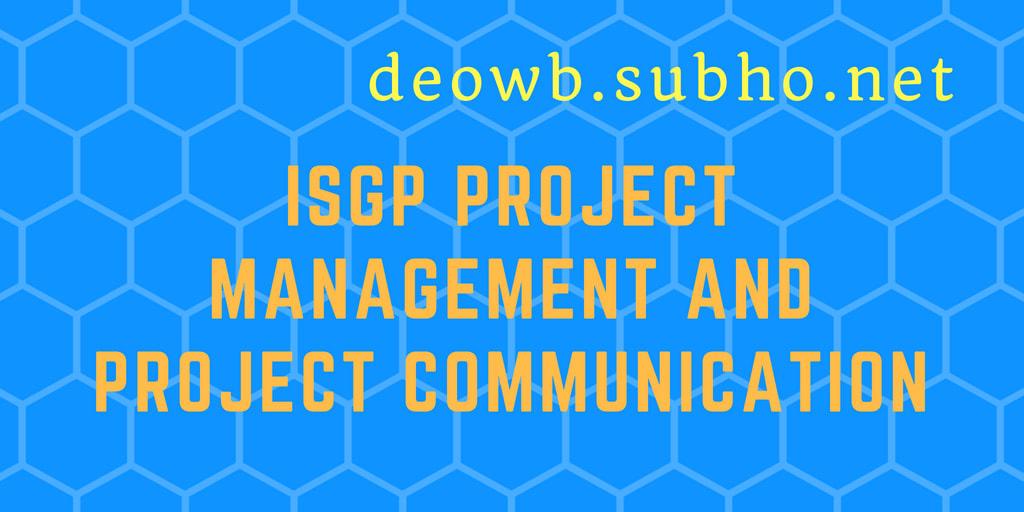 ISGP Project Management Project Communication