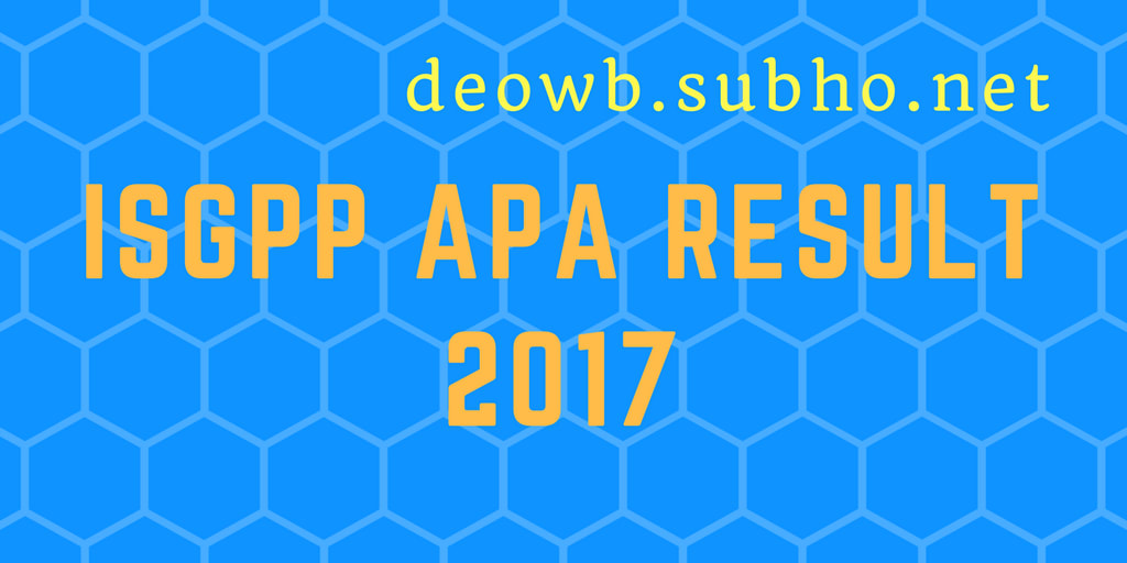 LATEST ISGPP APA RESULT 2017