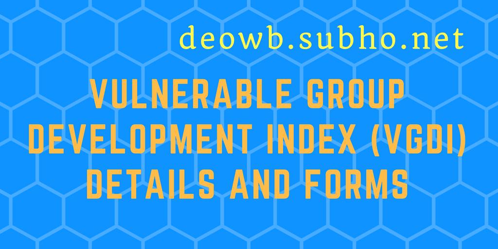 Vulnerable Group Development Index (VGDI)