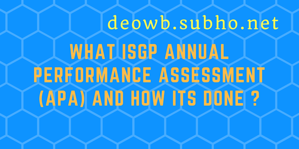WHAT ISGP ANNUAL PERFORMANCE ASSESSMENT (APA) AND HOW ITS DONE ?