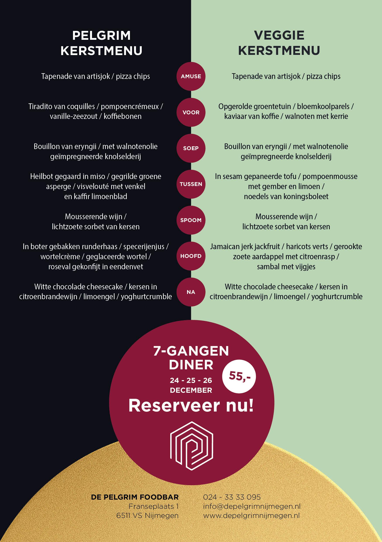 Kerstmenu 2021 Foodbar de Pelgrim