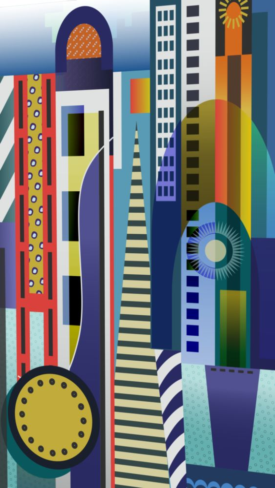 City to City 17 (for Léger) by Mark Gould